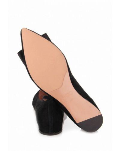 Замшевые туфли черные Ditto