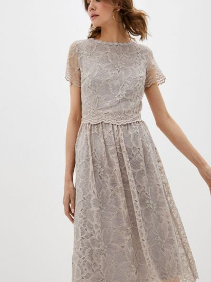 Платье - серое мадам т