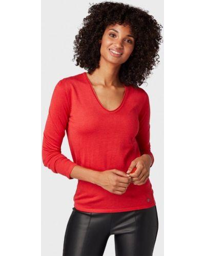 Красный пуловер Tom Tailor