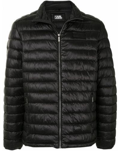 Черная длинная куртка Karl Lagerfeld