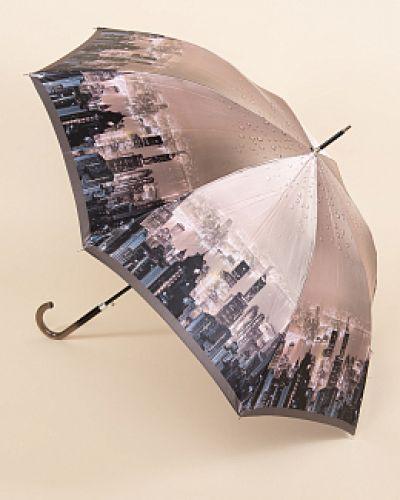 Зонт-трость - коричневый Fabretti