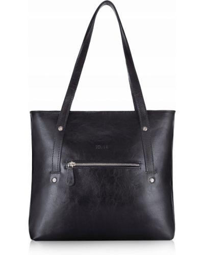 Czarna torba na ramię skórzana miejska Solier