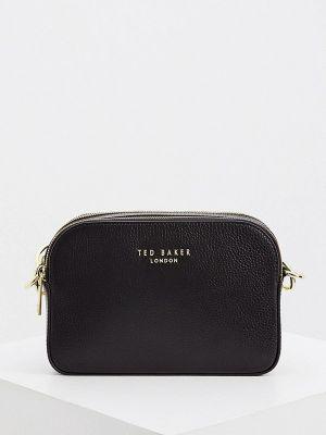 Кожаная сумка через плечо - черная Ted Baker London
