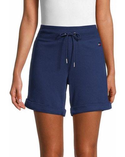 Niebieskie szorty z haftem bawełniane Tommy Hilfiger Sport
