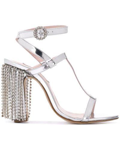 Босоножки на каблуке с пряжкой Leandra Medine
