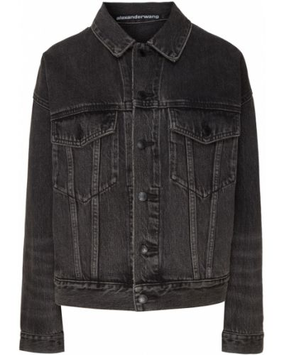Джинсовая куртка на пуговицах из микрофибры Alexander Wang