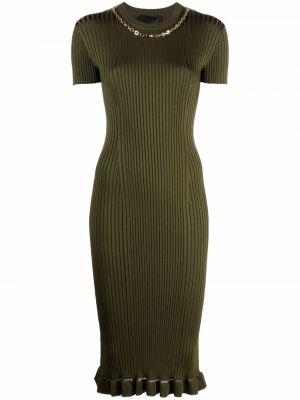 Złota sukienka mini - zielona Givenchy