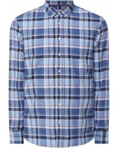 Niebieska koszula materiałowa Montego