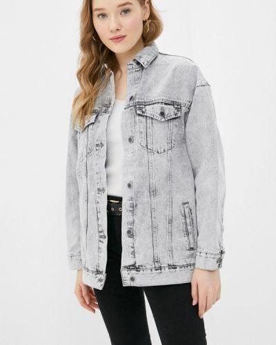 Серая джинсовая куртка Ostin