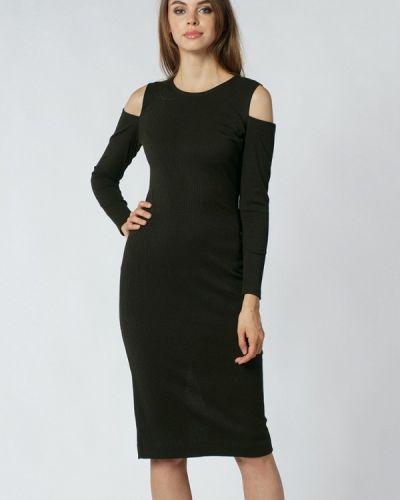 Прямое черное платье Evercode
