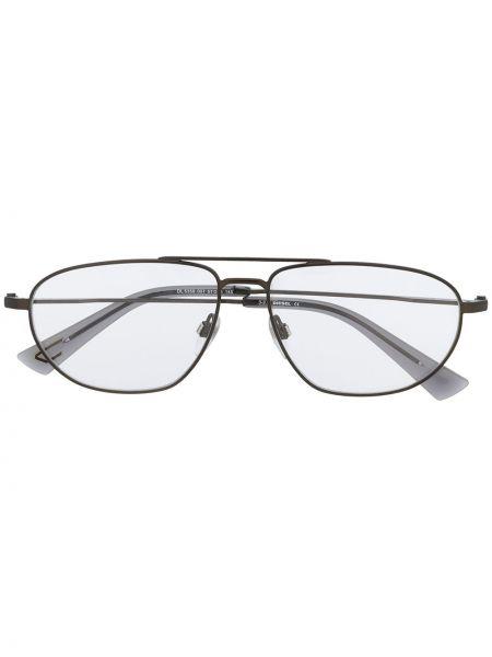 Прямые серые очки авиаторы Diesel