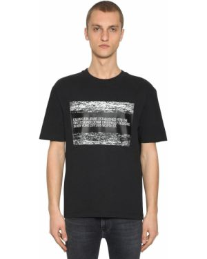 Czarny t-shirt bawełniany Calvin Klein Established 1978