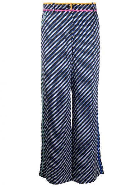 Свободные брюки в полоску с поясом Tory Burch