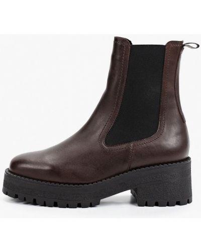 Коричневые демисезонные ботинки челси Tamaris