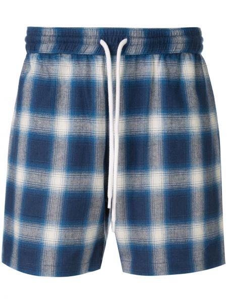 Niebieskie krótkie szorty bawełniane w kratę Adaptation