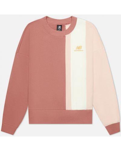 Толстовка с вышивкой - розовая New Balance