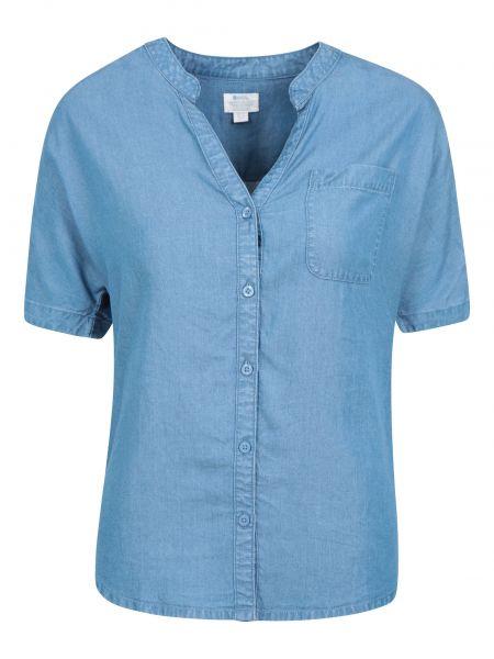 Niebieska koszula krótki rękaw Mountain Warehouse