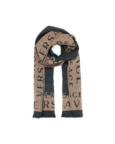 Коричневый шарф Versace