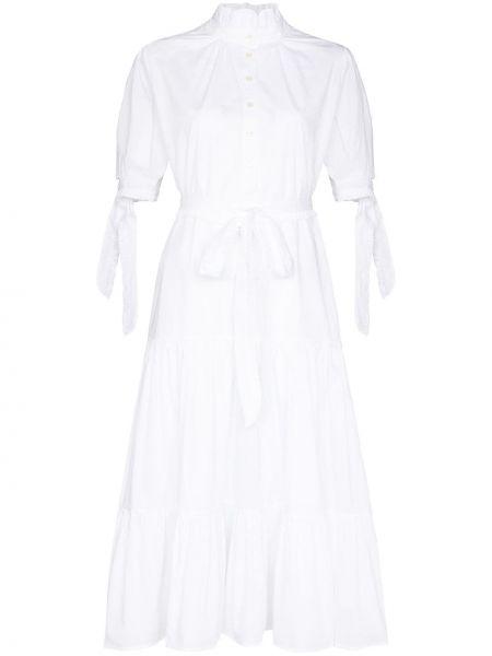 Biała sukienka mini rozkloszowana bawełniana Evi Grintela