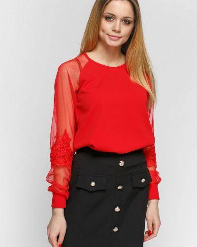 Блузка красная весенний Zubrytskaya