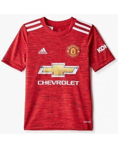 Красная спортивная футболка Adidas
