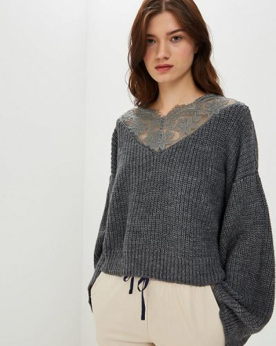 Пуловер серый итальянский Miss Miss By Valentina