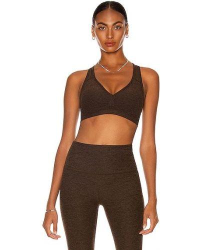 Коричневый текстильный бюстгальтер для йоги Beyond Yoga