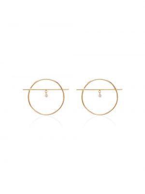 Żółty złoty kolczyki sztyfty z diamentem Persée