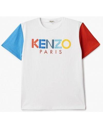 Футболка белая футбольный Kenzo
