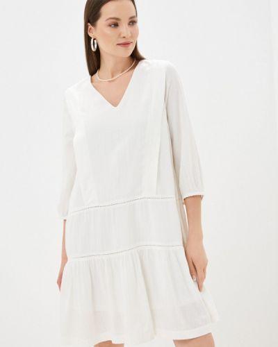 Прямое белое платье А-силуэта Ichi