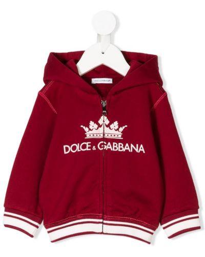 Толстовка красная Dolce & Gabbana Kids