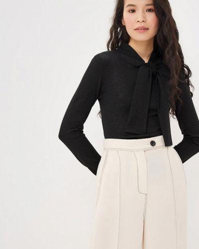 Блузка с длинным рукавом черная Арт-Деко