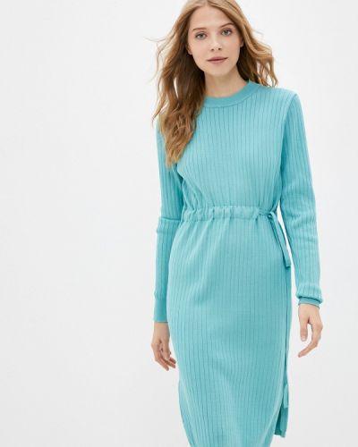 Бирюзовое трикотажное платье Izabella
