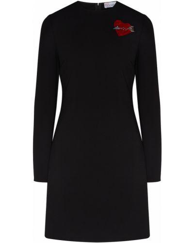 Платье мини облегающее из вискозы Red Valentino