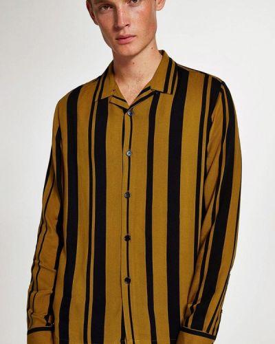 Желтая рубашка с длинным рукавом Topman