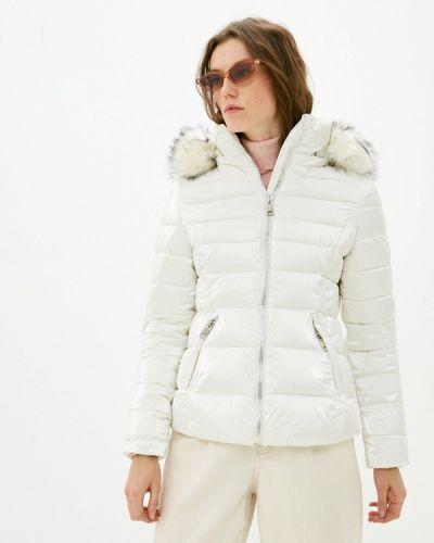 Утепленная белая куртка B.style