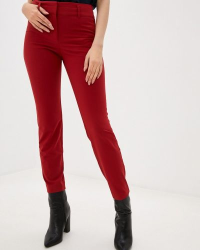 Повседневные красные брюки Stefanel
