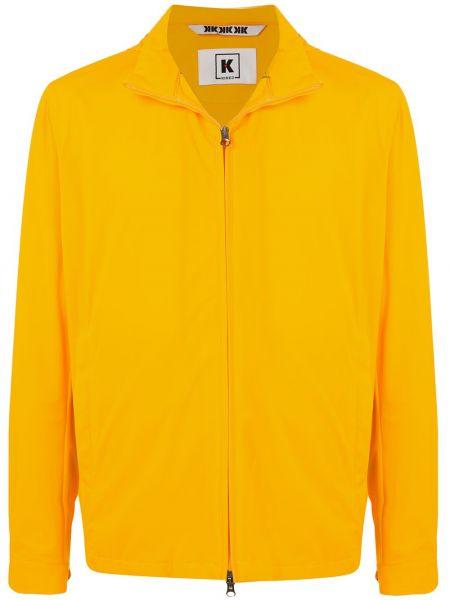 С рукавами желтая куртка с капюшоном Kired