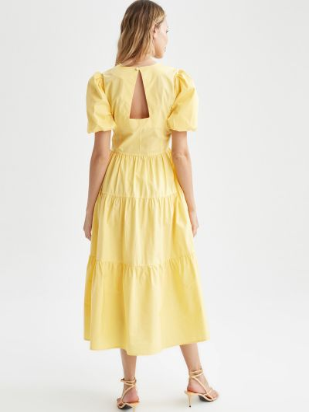 Желтое платье Defacto