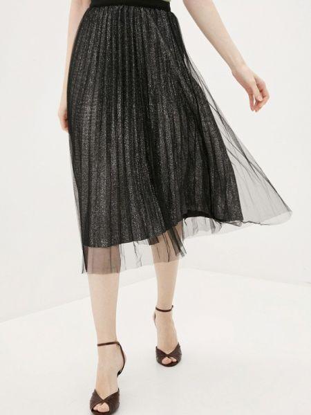Плиссированная юбка весенняя черная By Swan