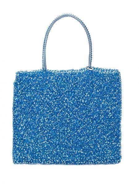 Синяя сумка-тоут круглая Anteprima