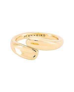 Złoty pierścionek kopertowy Jenny Bird