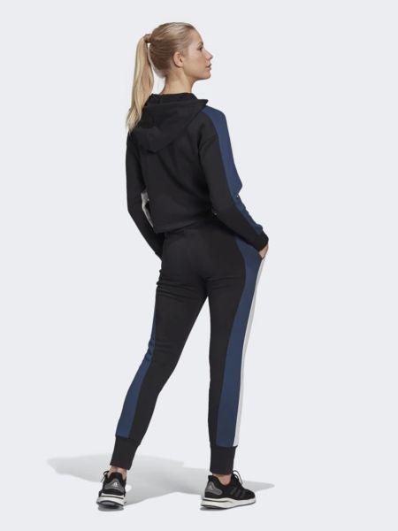 Спортивный костюм с капюшоном - черный Adidas