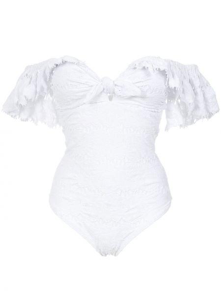 Biały strój kąpielowy krótki rękaw Amir Slama