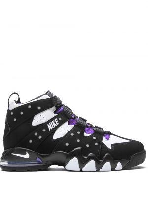 Кожаные черные кроссовки на шнурках Nike