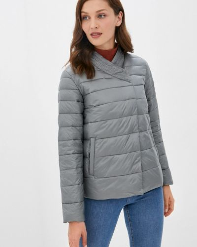 Теплая серая куртка снежная королева