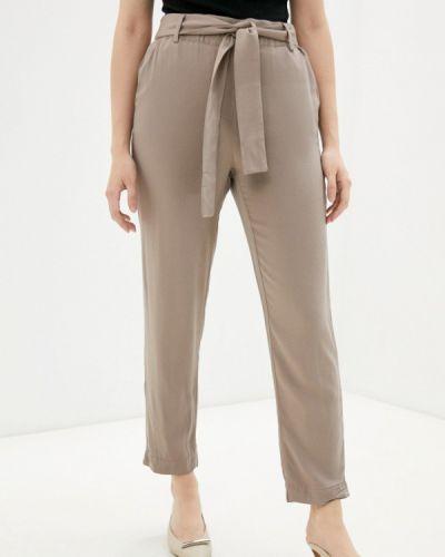 Бежевые брюки повседневные Zolla