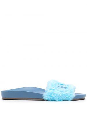 Niebieskie sandały peep toe Schutz