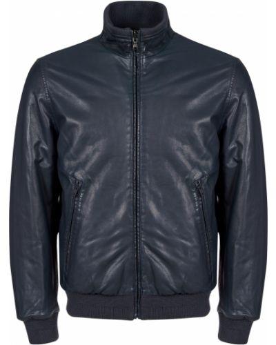 Кожаная куртка из полиэстера - синяя Gallotti