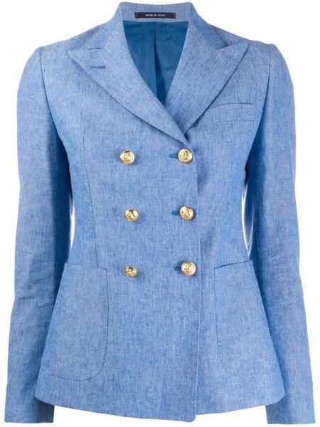 Пиджак льняной с накладными карманами Tagliatore